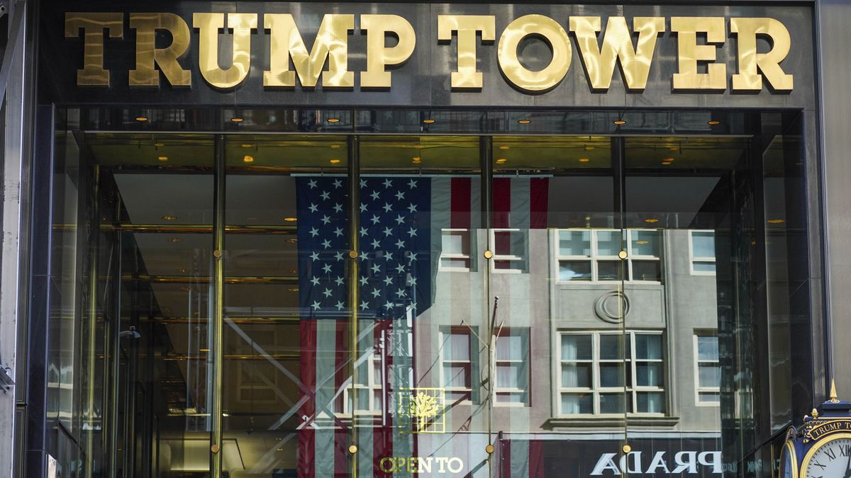 A view of the Trump Tower in New York City.