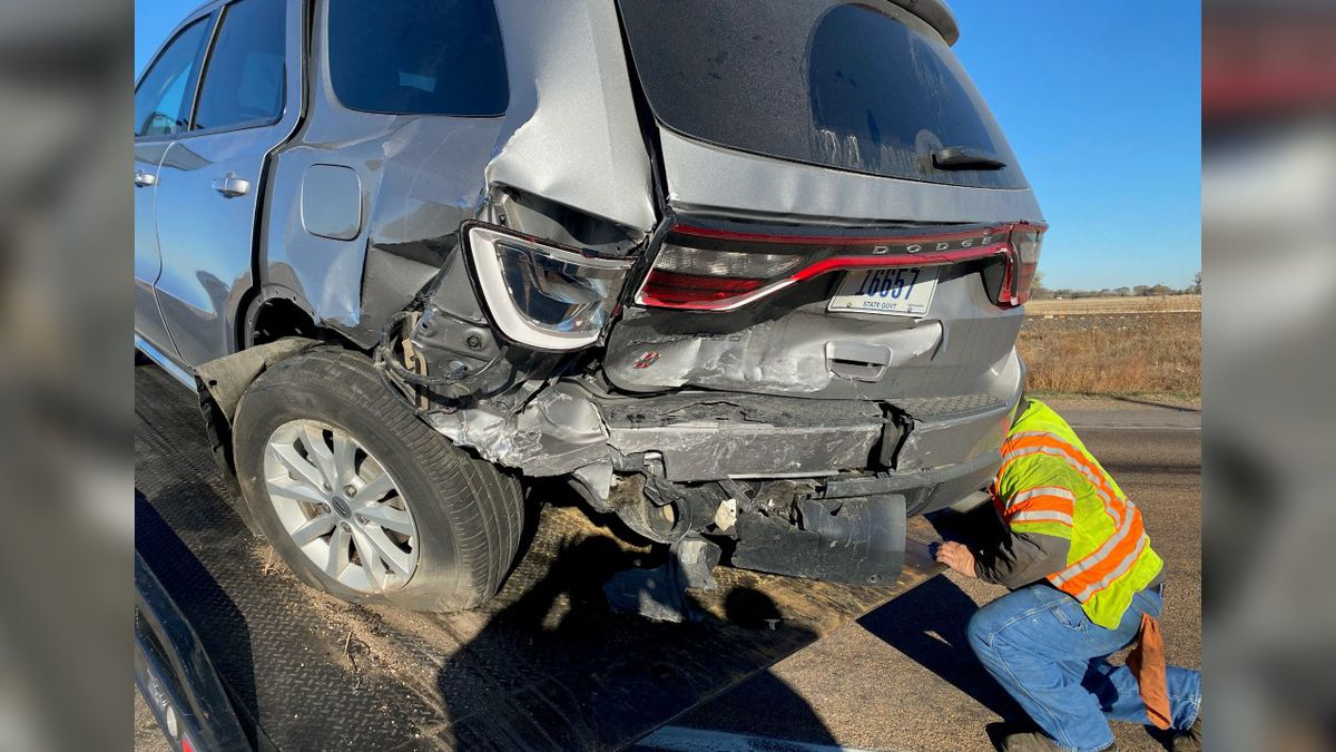 A commander with the Nebraska State Patrol suffered minor injuries when his vehicle was...