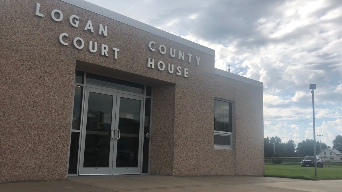 Former village clerk/treasurer Amy Allen of Stapleton was sentenced for stealing from the community she worked for on Tuesday in Logan County Court. (SOURCE: Melanie Standiford, KNOP-TV).