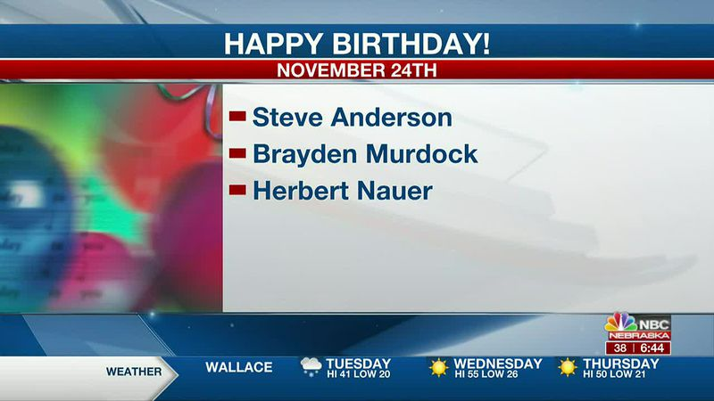 Happy November 24th Birthdays.