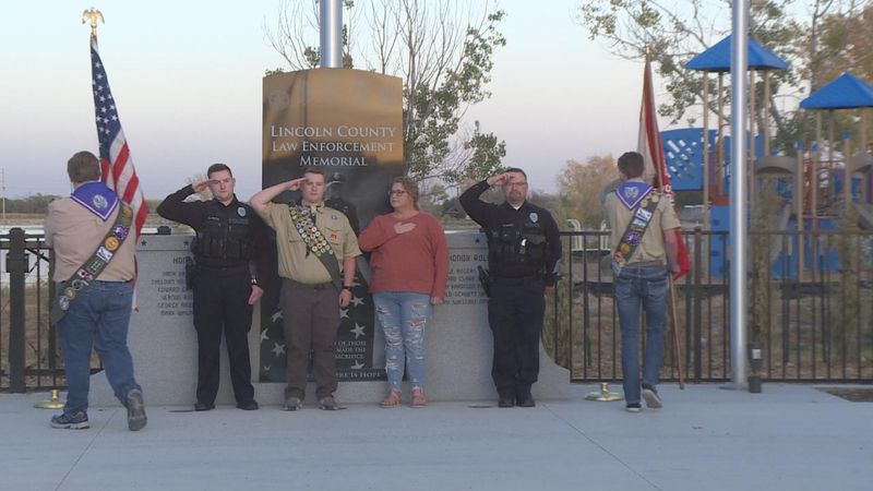 Eagle Scout project honors fallen officers