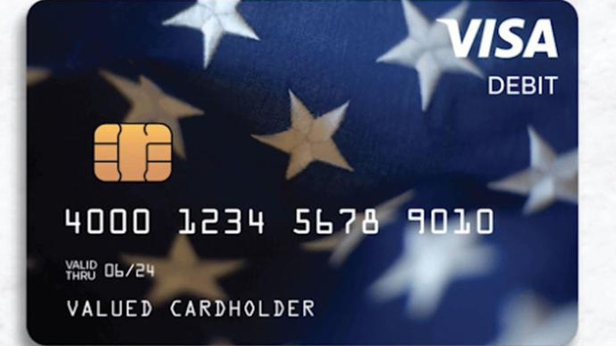 The cards are being distributed to people without bank information on file with the IRS, and whose tax return was processed by either the Andover or Austin IRS Service Center. (Source: U.S. Treasury Dept./CNN)