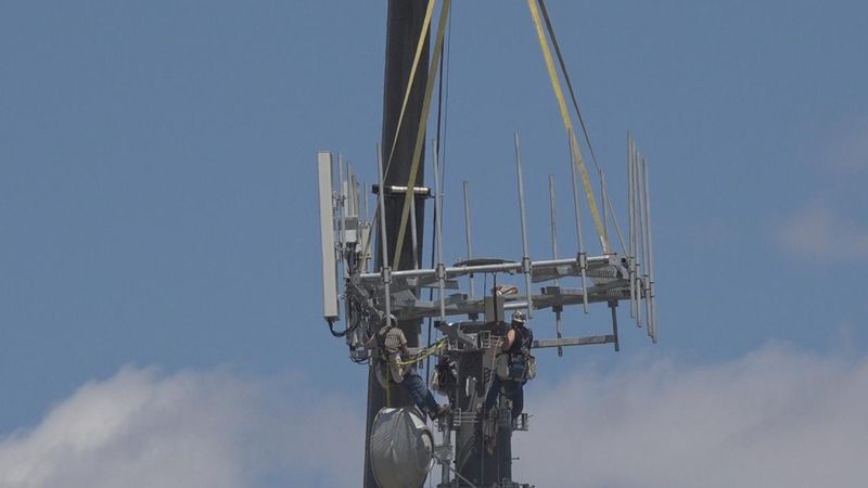 Crews installed a new 150-foot tall cell tower at the Wild West Arena earlier this month to...
