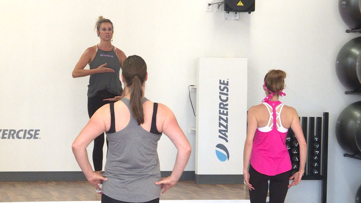 Jazzercise is back to having in person classes after two months. (Credit:Sam Pirozzi/KNOP-TV)