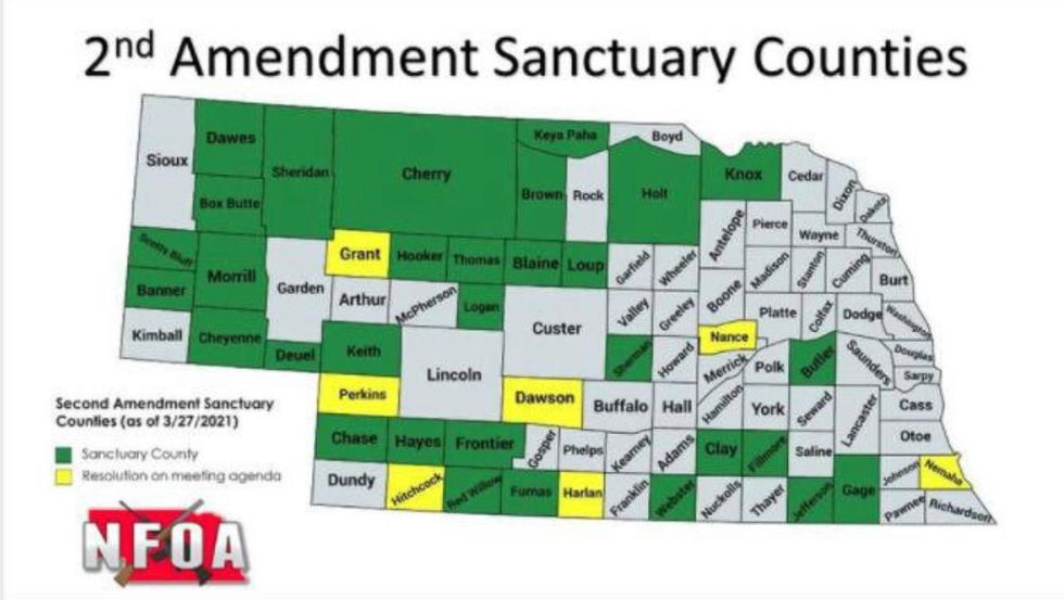 As of March 30, this is the status of the 2nd Amendment Sanctuary Counties in Nebraska. Those...