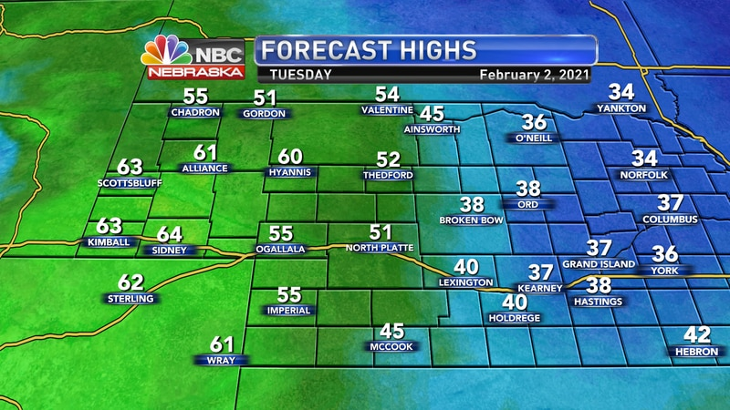 With no snow on the ground and a good amount of sunshine on Tuesday, we should see many areas...