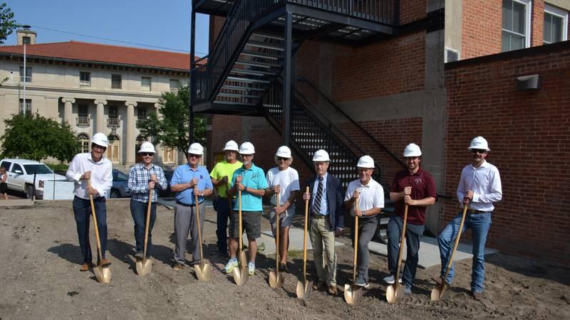 Norris Institute Board Members Breaking Ground at Norris Alle