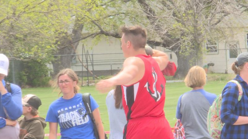 The Sutherland athlete sets a new personal record in Shot put.