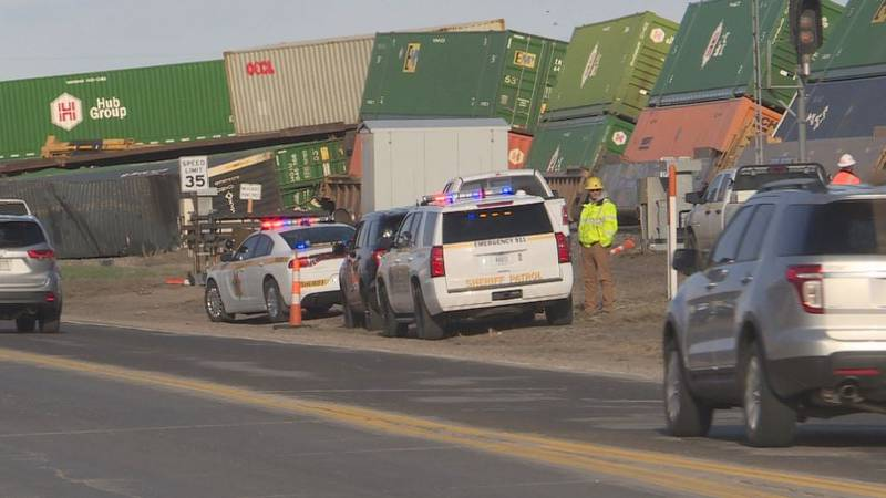 A Union Pacific train derailed Wednesday afternoon in Gibbon.