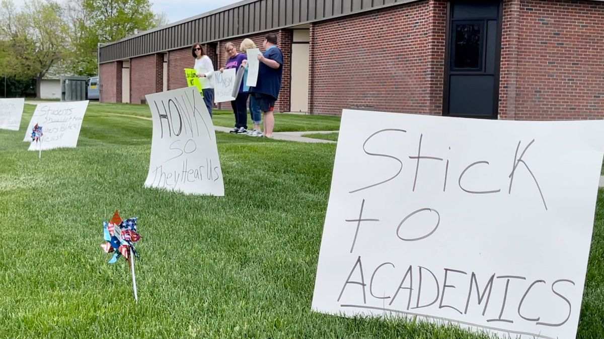 Standing up against proposed health standards for students.