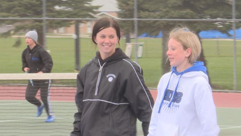 The Hershey duo came up clutch, winning their doubles match 8-6 over Kearney Catholic.