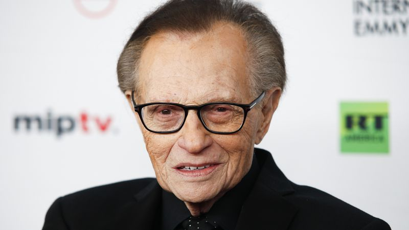 FILE - In this Nov. 20, 2017, file photo, Larry King attends the 45th International Emmy Awards...