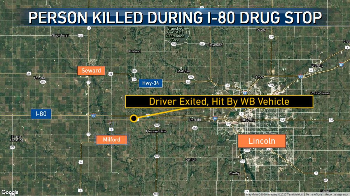 During a traffic stop, a large number of narcotics were found, according to Sheriff Michael Vance. The male driver, who was the only person in the vehicle, ran away and was hit by a westbound vehicle.