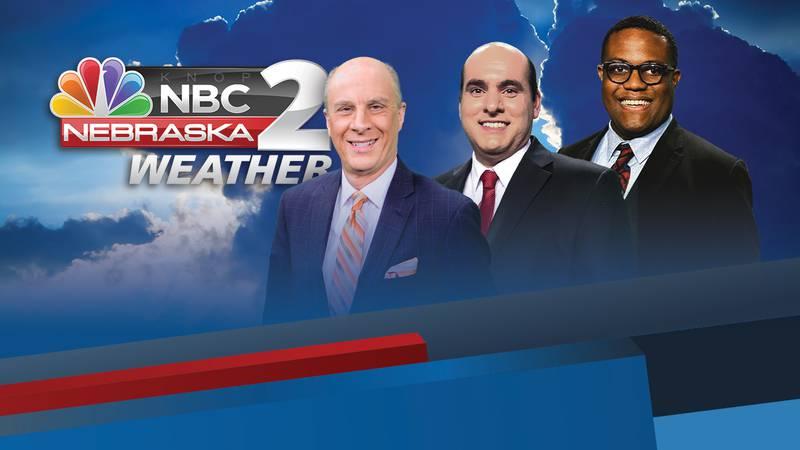 NBC Nebraska News 2 Weather Team: John Walsh, Justin Fanfarilli, Andre Brooks