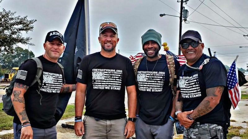 Four veterans walk to help their fellow soldiers. They want your help. Buddy Watch Walk.