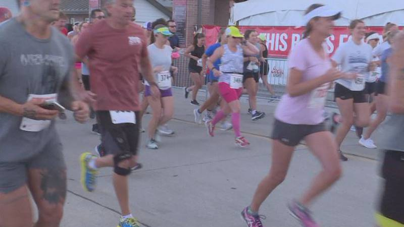 Participants gather for the 45th Annual NEBRAKSALand Days Road Run