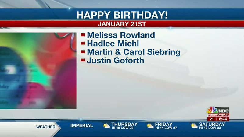 Happy January 21st Birthdays