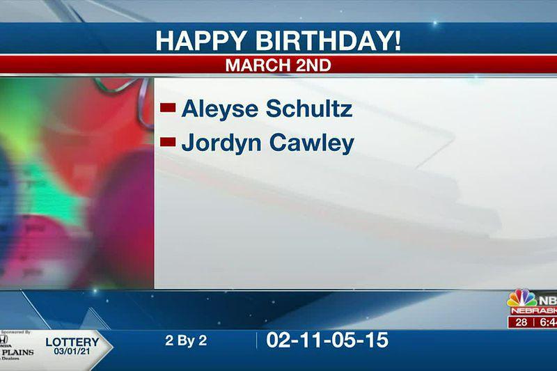 Happy March 2nd Birthdays.