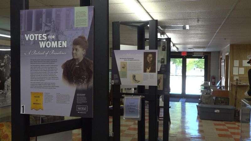 Women's Suffrage Display at Lincoln County Historical Museum