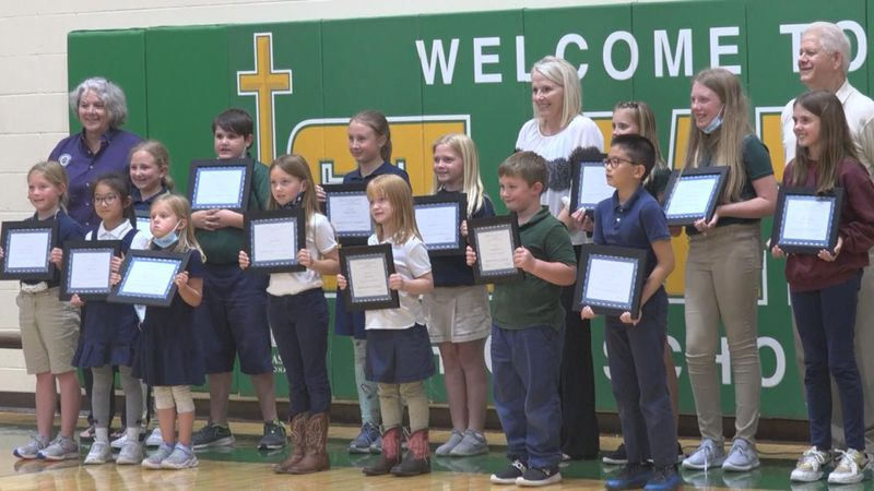 Several students at McDaid Elementary are honored for their good citizenship Tuesday.