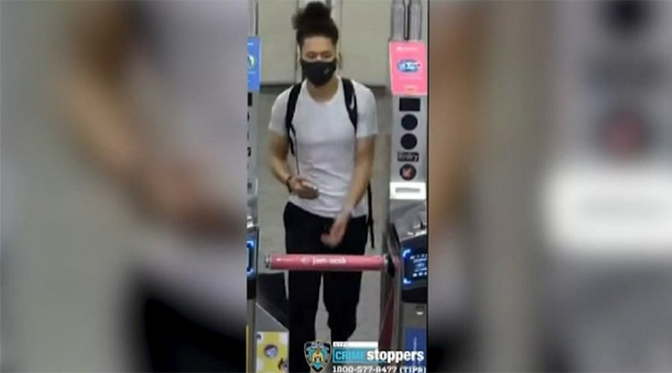 A man is being sought, suspected of kicking a woman down the escalator in a Brooklyn subway...