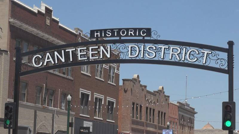 """The new archway on Fourth and Dewey street welcoming people into the """"Historic Canteen District."""""""