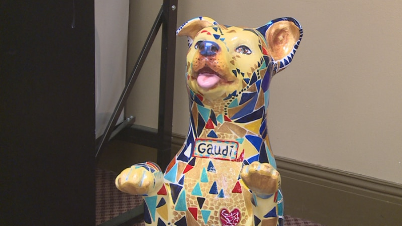 25 dog statues will be around town.