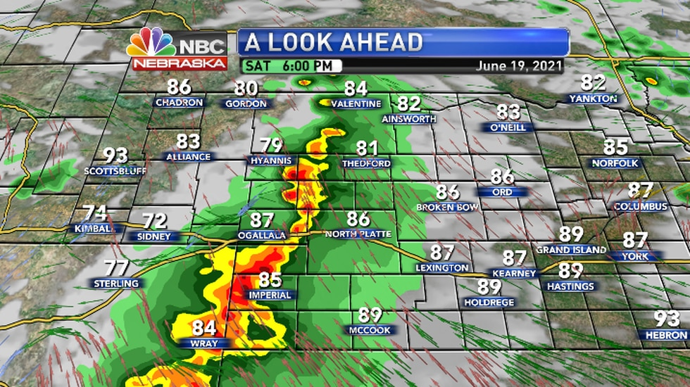 As storms form a line the main threat will be damaging winds.