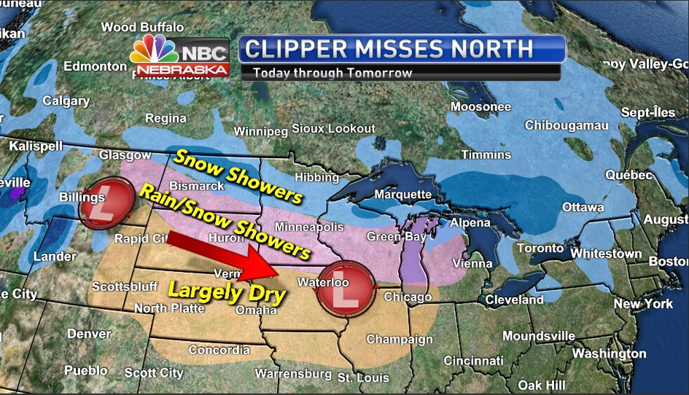 Clipper misses us to the north as we stay dry.