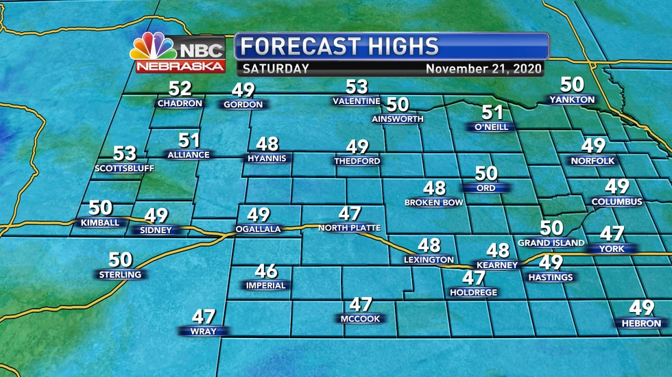Mostly cloudy and seasonally cool conditions are expected on Saturday to start the weekend with...
