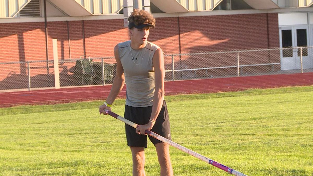 Tyce Hruza is a two-time state champion, and state record holder. He will be going against top competitors from across the country at the Capitol District Pole Vault (Credit: Patrick Johnstone/KNOP-TV)