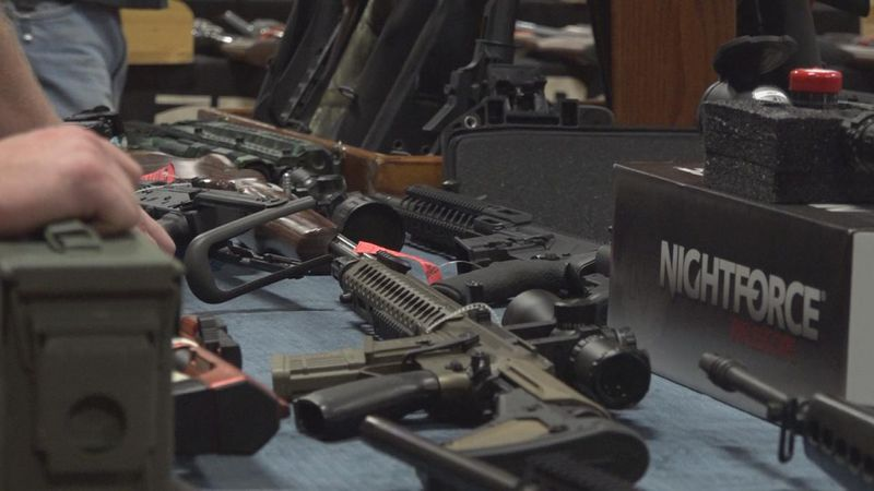 Close up on guns at the North Platte gun show. (Source: KNOP)