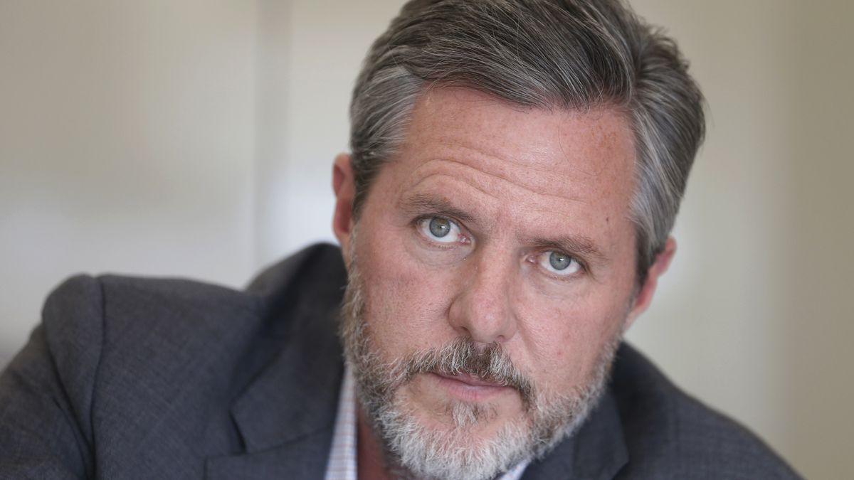 In this Nov. 16, 2016 file photo, Liberty University president Jerry Falwell Jr., poses during...