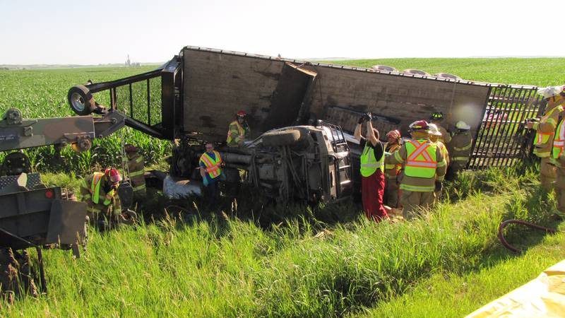 Rescue crews are sharing the story of how people assisted at an accident site in Custer County...