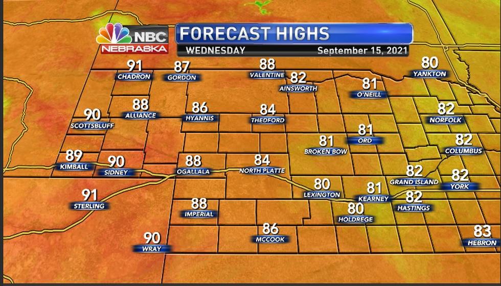 Warm temperatures felt in the region Wednesday afternoon