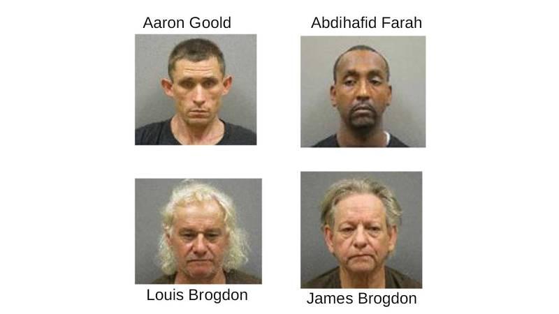 Goold, Farah, and Brogdons arrested