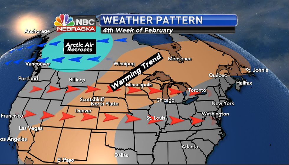 Much warmer air in store to finish February.