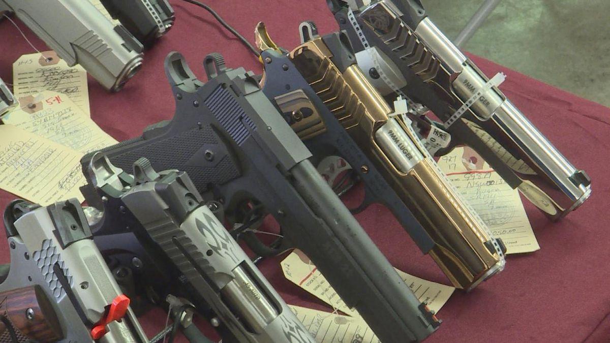 Vendors showcased their firearms at The Ogallala Gun Show. (Source: KNOP/Jace Barraclough)